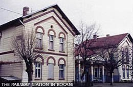 The railway station in Kocani