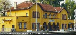 Railway station of Gevgelija