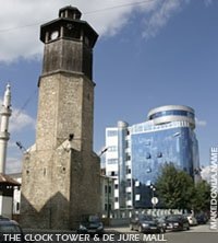 The clock tower of Gostivar