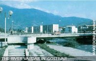 The Vardar river in Gostivar