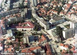 Panoramic view of the centre of Kumanovo