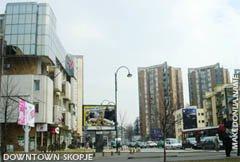Downtown Skopje - Dimitrija Cupovski street
