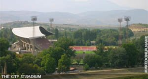 The main stadium of Skopje
