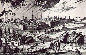 Skopje - A Dutch gravure from 1594