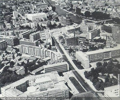 Panorama of Skopje before 1963