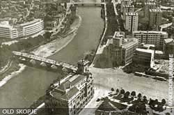 Aerial view of the downtown district before 1963
