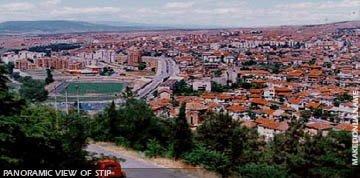 Panoramic view of Stip