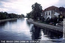 Crni Drim river in Struga