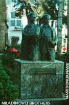 Monument of Miladinovci brothers in Struga