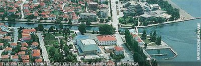 Panoramic view of Struga