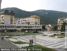 The Square in Tetovo