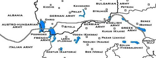 Macedonian Front - First World war