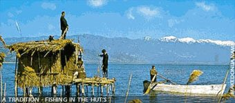 Dojran lake tradition - fishing in the huts