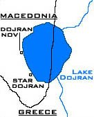 Dojran lake map