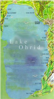 Map of the Ohrid lake