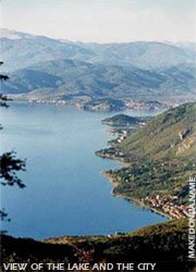 View of the Ohrid lake and Ohrid