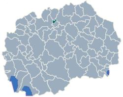 Municipality of Aracinovo map