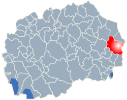 Municipality of Berovo map