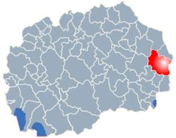 Municipality of Berovo map