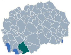 Municipality of Bitola map