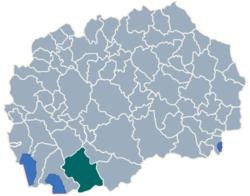 Municipality of Bitola map