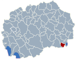 Municipality of Bogdanci map