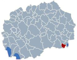 Municipality of Bogdanci map