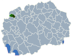 Municipality of Bogovinje map