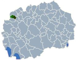 Municipality of Bogovinje map