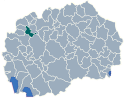 Municipality of Brvenica map