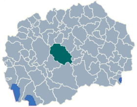 Municipality of Caska map