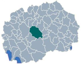 Municipality of Caska map