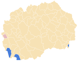 Municipality of Centar Zupa map