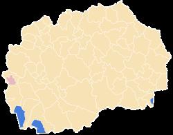 Municipality of Centar Zupa map