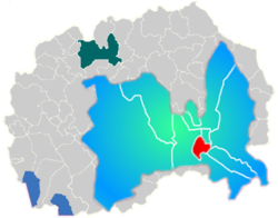 Municipality of Centar map