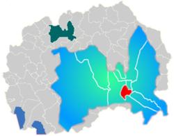 Municipality of Centar map