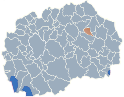 Municipality of Cesinovo-Oblesevo map