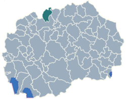 Municipality of Cucer-Sandevo map