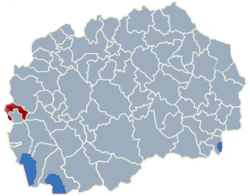 Municipality of Debar map