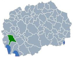 Municipality of Debarca map