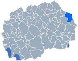 Municipality of Delcevo map