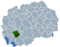 Municipality of Demir Hisar map