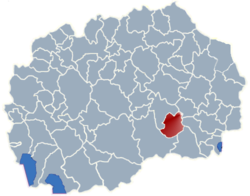 Municipality of Demir Kapija map