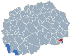 Municipality of Dojran map
