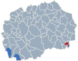 Municipality of Dojran map
