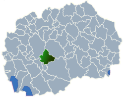 Municipality of Dolneni map