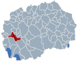 Municipality of Drugovo map