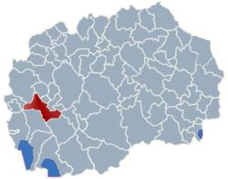 Municipality of Drugovo map