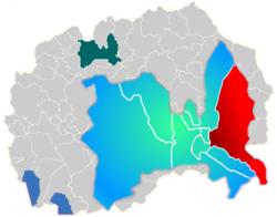Municipality of Gazi Baba map