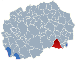 Municipality of Gevgelija map
